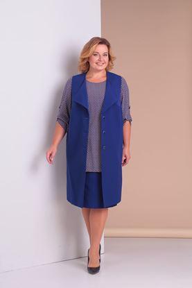 Изображение Комплект 3-х предметный:жакет,блуза и юбка  3078-с