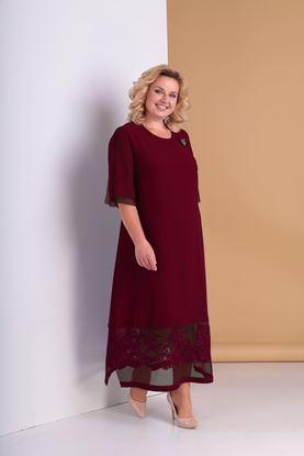 Изображение Платье A 3301-бордо