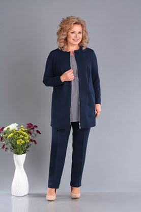 Изображение Комплект жакет, блуза, брюки 3260-с