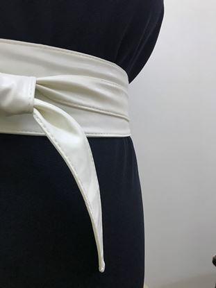 Изображение Пояс-кушак узкий белый
